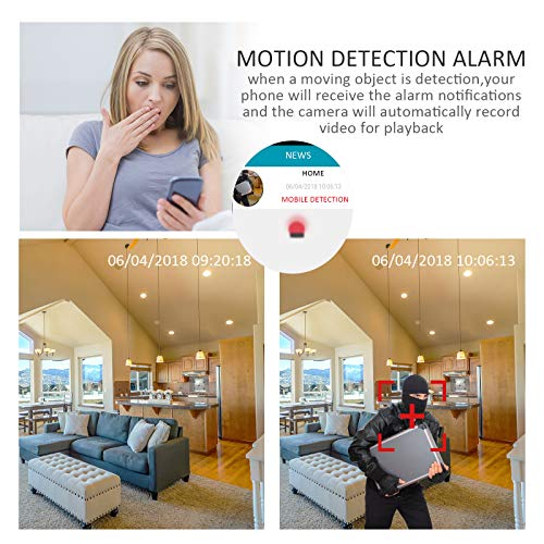 Wireless Baby Monitor 1080p for iPhone or Smart Phone, Two-Way Audio, Night Vision, Dome Surveillance Camera, Wireless Pet Camera with Motion Detection, PT 360 Degree by ANRAN (Image #4)