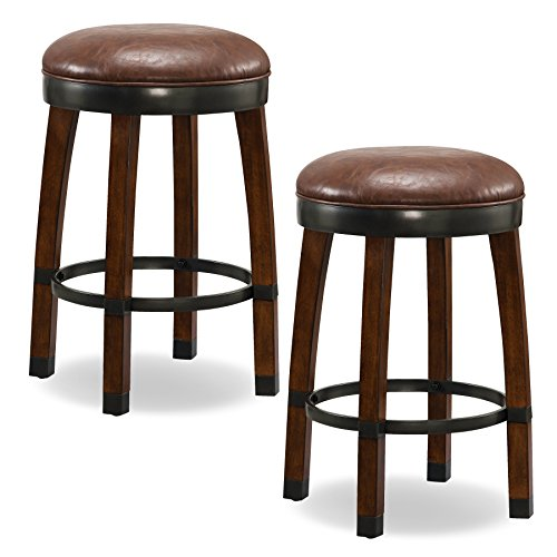 - Leick 10118SN/SB Favorite Finds Counter Height Bar Stool (Set of 2), Brown