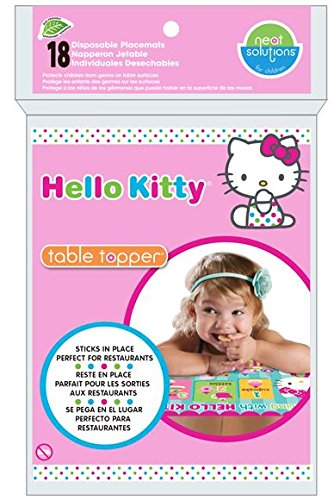 Hello Kitty Table Topper, Pink , 18-Count (Kitty Table Hello)
