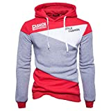 Mens Print Letter Patchwork Novelty Sweatshirts Pullover Sport Hoodies Outerwear
