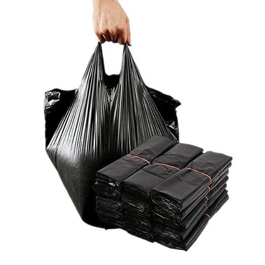 JTMM Bolsas de Basura Negro (100 Piezas) Desechables Bolsas ...