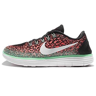 Nike Women's WMNS Free Rn Distance, Black/White-Bright Mango-Green Glow, 5 US