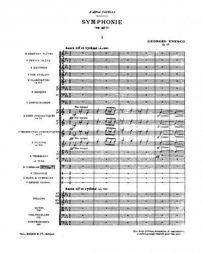 Symphony No.1 - Score