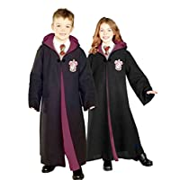 Bata de disfraces de Rubie Deluxe Harry Potter para niños Hermione Granger con emblema de Gryffindor, grande