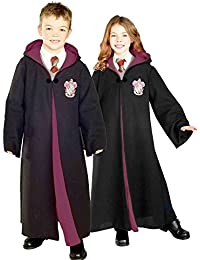 884259 Deluxe Harry Potter Child's Hermione Granger Costume Robe with Gryffindor Emblem, Large, Multicolor