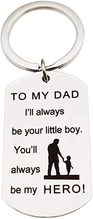 Father S Day Dad Gift Dad Birthday Gifts Christmas Gifts For Dad Be Your Little Girl Be My Hero Father Keychain At Amazon Men S Clothing Store