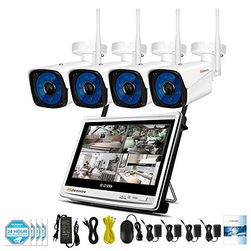 Jennov Security Camera System Wireless, 1080P Wireless Security System 12