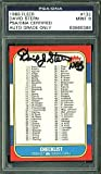 David Stern NBA Signed Trading Card 1986 Fleer Checklist Auto Graded 9 - PSA/DNA Authenticated