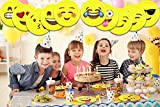 10-Inch-Emoji-Paper-Party-Plates-by-LiveEco-Emoji-Party-Supplies-20-Pack-Includes-Top-10-Most-Popular-Emojis-Great-for-Birthday-Parties-Classroom-Prizes-Arts-Crafts-and-Games