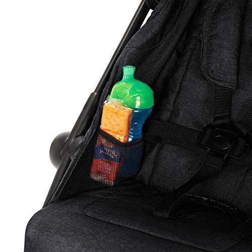51QX9AZ0BjL - Evenflo Aero2 Ultra-Lightweight Double Strollers, Compact, Self-Standing Folding Design, Shopping Basket Single-Child Mode, Seatback Storage Pocket, 2 Mesh In-Seat Pockets, 50-lb Per Seat, Osprey Gray