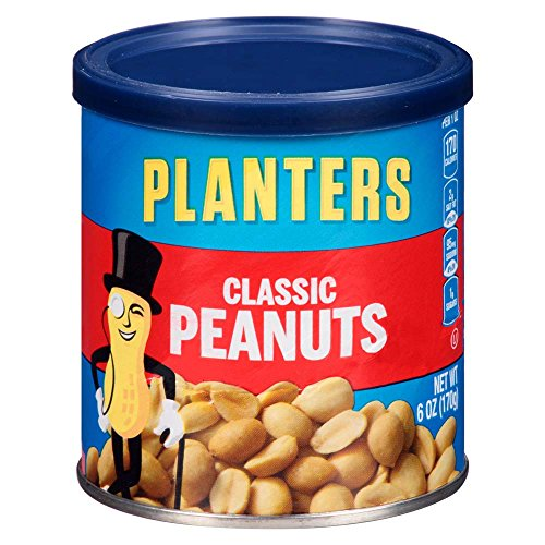 (Planters Classic Salted & Roasted Peanuts (6 oz Canisters, Pack of 8))