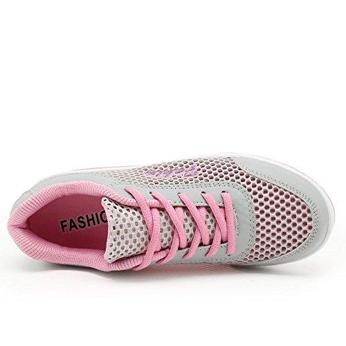 XMeden Zapatillas Pink de running mujer Rx1317 para 77OrwYBdq