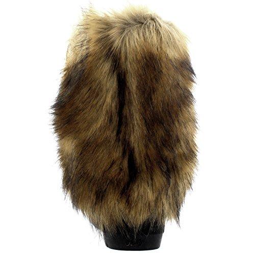 Yeti Lluvia Nieve Esquimal Rabbit Impermeable Mujer Botas CoveRojo Invierno Holly Tall Negro Pelaje 1O4OZg