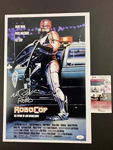 (Peter Weller signed 12x18 Movie Poster RoboCop JSA Authentication)