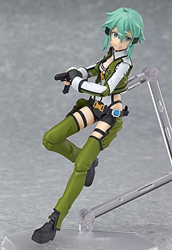 "New Anime Sword Art Online II Sinon Figma 241 PVC Action Figure 6"" NO Box"