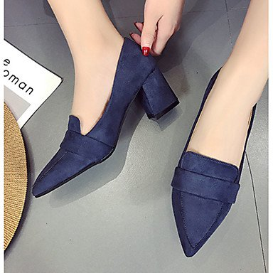 5 cn37 Kleid 7 Grau LvYuan cm 5 Sommer 12 Ruby High Damen Wildleder GGX eu37 Normal amp; Blau Mehr Blockabsatz Pumps us6 uk4 Walking Rot Schwarz Pumps 5 Heels Fwq8xgfOF