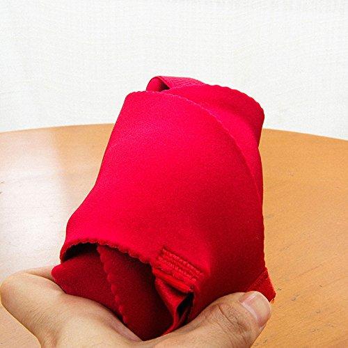 ZHFC-Rojo, no tiene anillo, comodo, un pedazo de mujer sin dejar huellas Bra, pecho pequeño espesor, recoger la ropa interior transpirable 70a gruesa taza