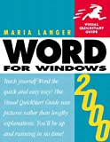 Word 2000 for Windows, Maria Langer, 0201354284