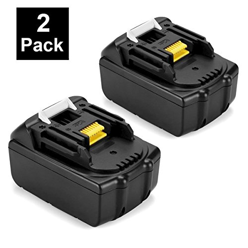 ENERMALL 2 Pack 5.0Ah Lithium-Ion Replacement for Makita 18V Battery BL1850 BL1840 BL1830 BL1820 LXT-400 194204-5 Cordless Power Tools by ENERMALL