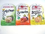Bumble Bee NEW Seasoned Tuna : Sriracha, Jalapeno, and Lemon & Pepper 2.5 oz.ea. Bundle of 3 Pouches