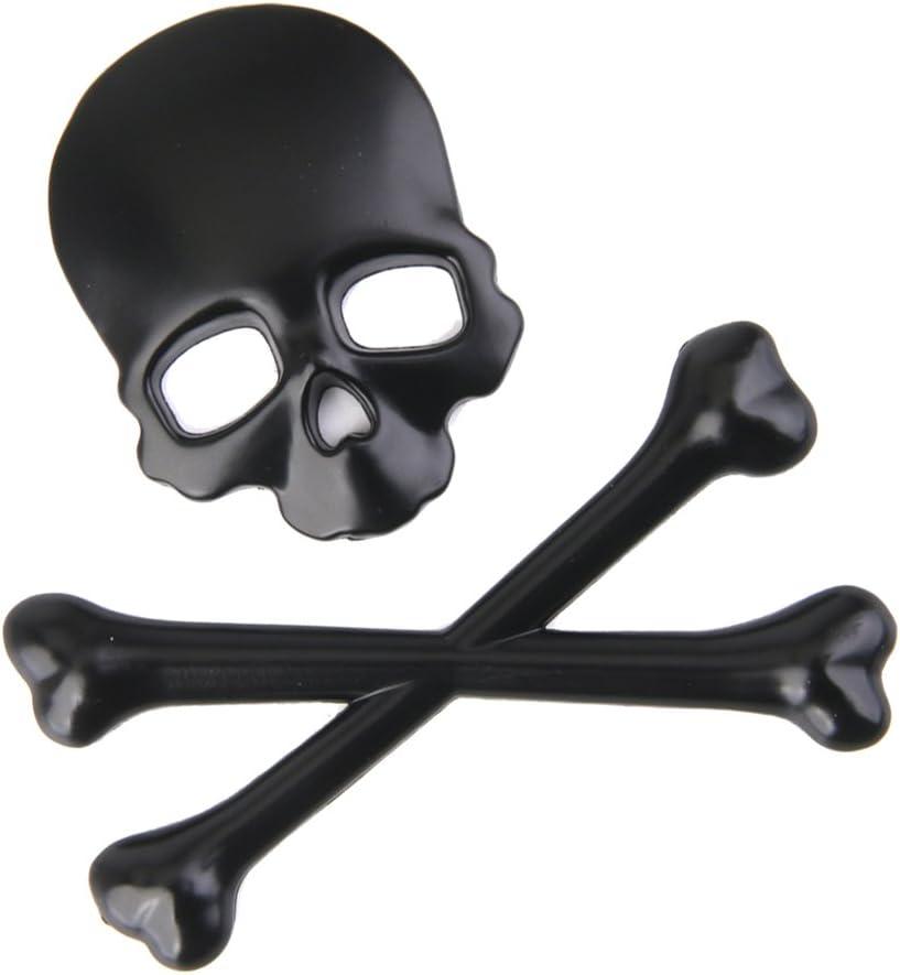 Black Car Body Exterior Cover DIY Car-Styling Accessories Skull Crossbone Car Decal 3D Emblem Chrome Metal Badge Sticker