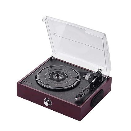 Muslady Grammophon Retro USB & BT-In - Tocadiscos de vinilo con 2 ...