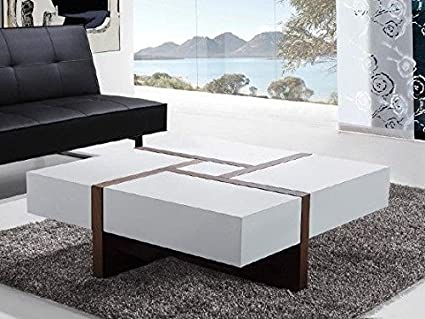 Charmant Arista Solid Surface Center Table(White Walnut): Amazon.in: Home U0026 Kitchen