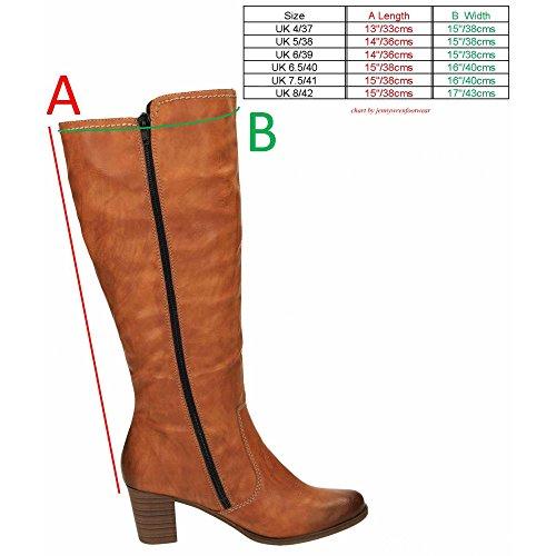 Base London Y8980-24 Ladies Velvet Lined Zip Riding Boots Brown Brown egu39ErLO