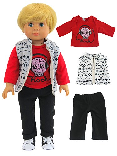 Berenguer Doll Clothing (Skull Outfit for Boys | Fits 18