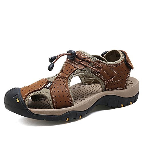 Sofft Gold Sandals - Men Sandals Leather Beach Water Walking Shoes