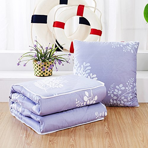 HOMEE Antarctic Person Vehicle Pillow Quilt Dual-Use Pure Cotton Fold Small Blanket Office Sofa Bed on the Lumbar Support Rest is the Dream of Stars ,4545,,First Love,4040
