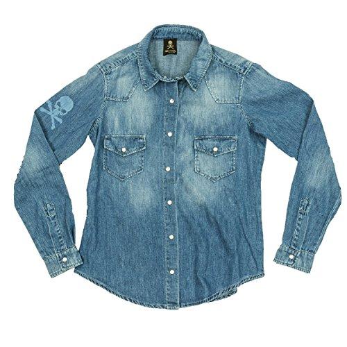 skull philosophy - Camisas - para mujer Blu jeans