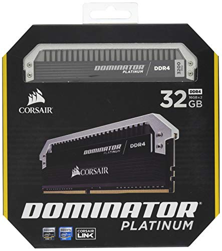 (Corsair Dominator Platinum 32GB (2x16GB) DDR4 3200MHz C16 Desktop Memory)