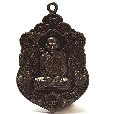Thai Buddha Jewelry Pendants Loung Bhor Roy Pasadiko Amulets for Good Life (Brass 26650 Rda)