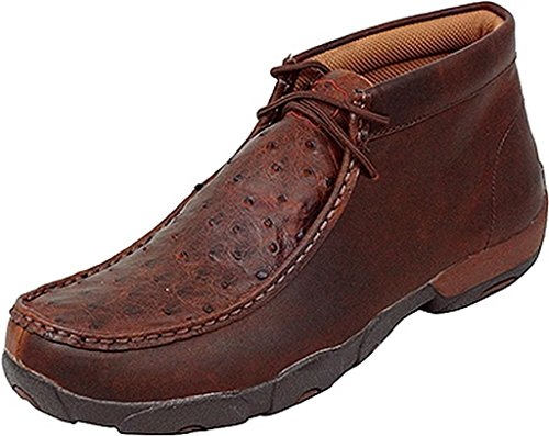 (Twisted X Men's Bomber Leather Lace Up Driving Moccasins - Saddle Brown - 11 D(M) US)