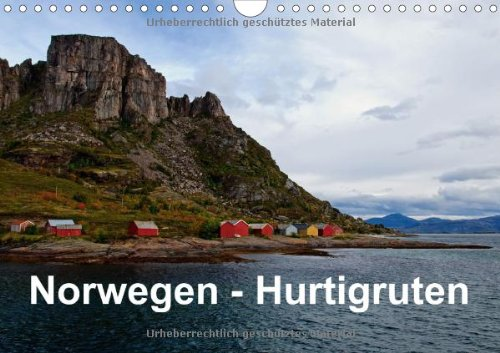 Norwegen - Hurtigruten (Wandkalender 2014 DIN A4 quer): Mit dem Postschiff entlang Norwegens Küste (Monatskalender, 14 Seiten)