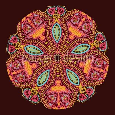Uneekee The Mandala Of The Maharani Shower Curtain: Large Waterproof Luxurious Bathroom Design Woven Fabric by uneekee (Image #2)