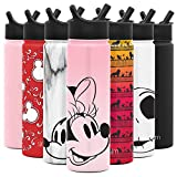 Kitchen & Housewares : Simple Modern Disney 22oz oz Summit Water Bottle with Straw Lid - Gifts for Men & Women Hydro Vacuum Insulated Flask Double Wall Liter - 18/8 Stainless Steel Disney: Minnie on Blush