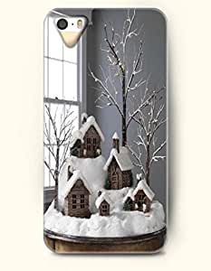 OOFIT iPhone 5 5s Case - Merry Christmas Houses In Snow
