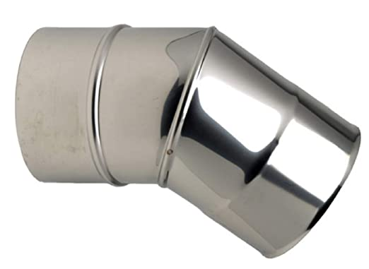 Codo 45 Grados 2 piezas acero inoxidable 304 diámetro: 153 ...