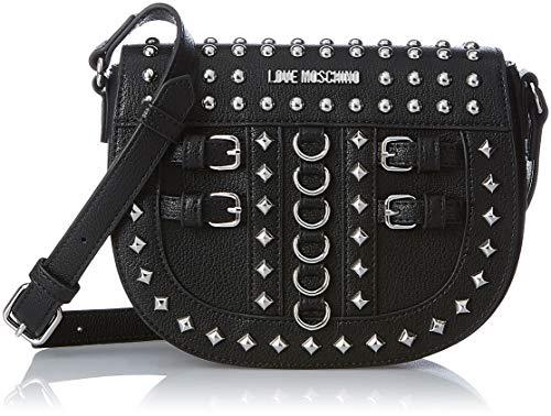 1ce2f017c6 Love Moschino Borsa Pebble Grain Pu, Women's Shoulder Bag, Black (Nero),