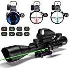 Aibay Rifle Scope 4-12x50EG Red and Green Dot Sight with Integrated Green Laser
