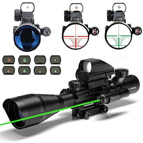 Aibay Rifle Scope 4-12x50EG Red and Green Dot Sight with Int