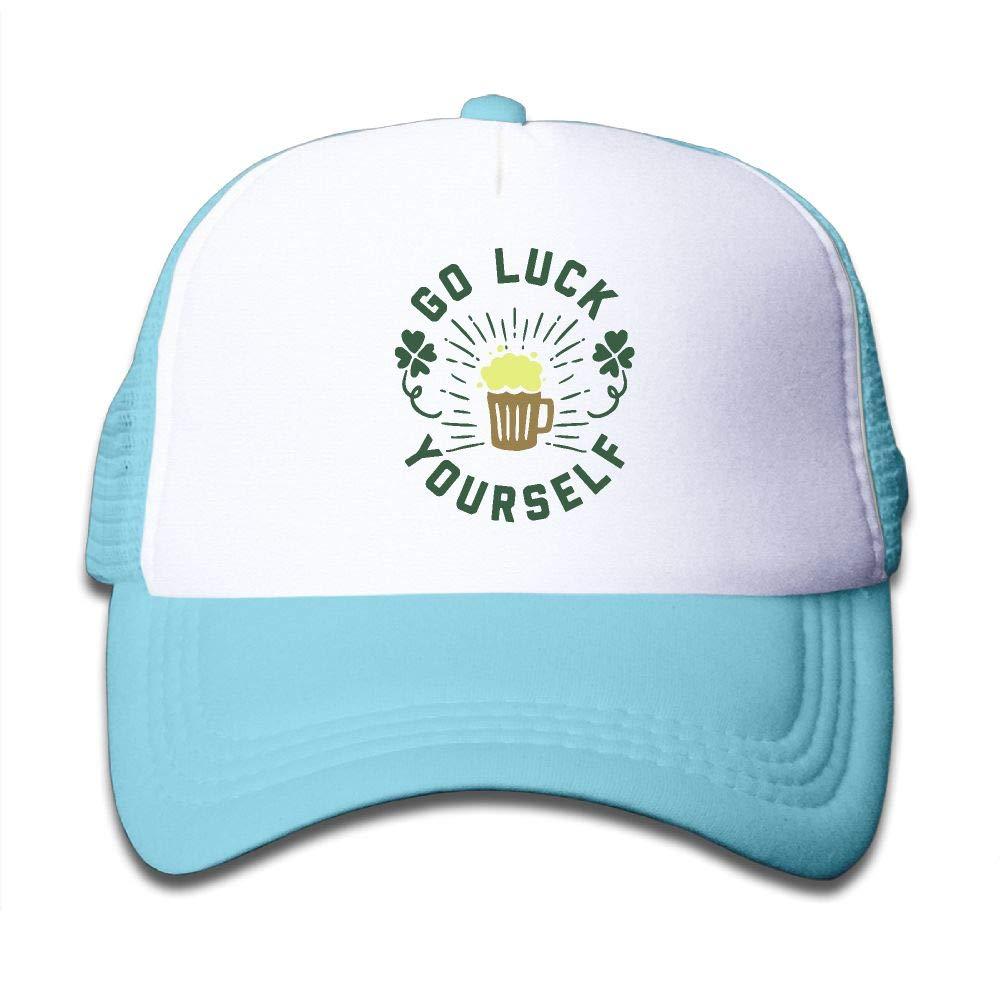 Kid's Boys Girls St Patrick's Day Youth Mesh Baseball Cap Summer Adjustable Trucker Hat