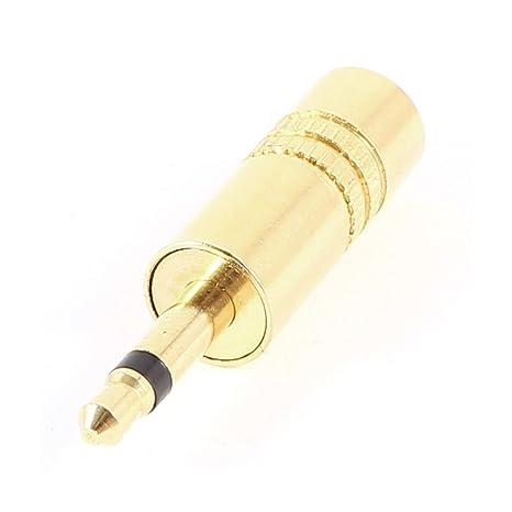 Tono Mono Jack 3.5mm soldadura conector de audio para auriculares de oro