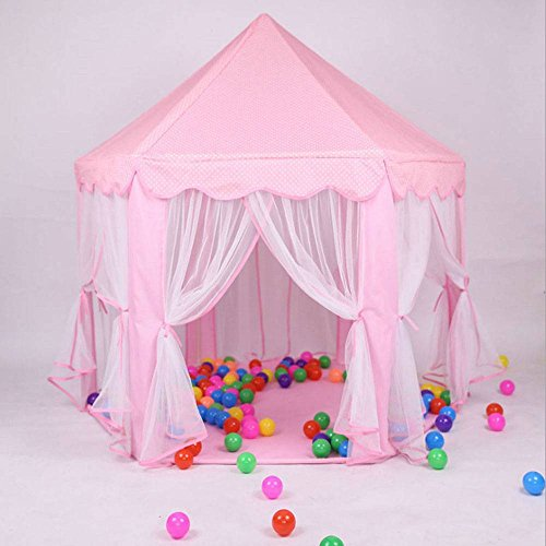 oolilioo Princess Castle Play House Large Outdoor Kids Play Tent for Girls Pink by oolilioo