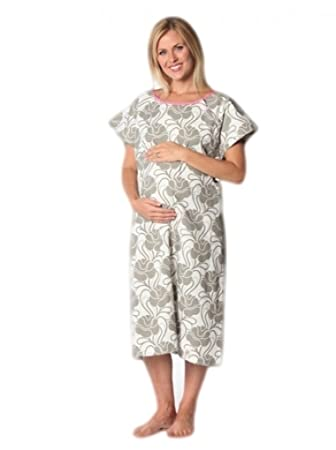 Amazon.com: 100% Cotton Hospital Gown / Delivery Gown / Labor Gown ...