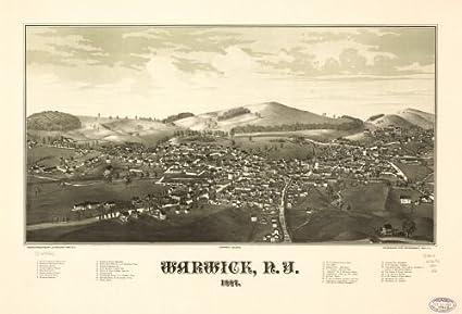 Amazon Com Map Of Warwick N Y 1887 New York State Warwick New