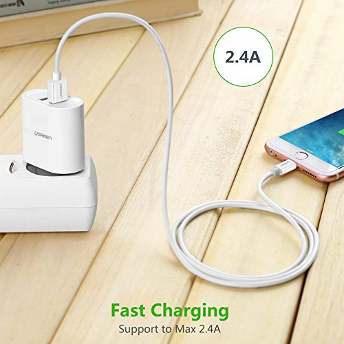 durable modeling UGREEN Lightning Cable, iPhone 7 Charging Cable 6ft Lightning to USB Data Sync Cable for iPhone 6S,6 Plus, iPhone5s, 5c,5,iPad Mini,Mini 2,Air, Pro etc. MFi Certified White