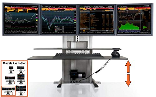 - Stand Steady ErgoTech One Touch Electric Standing Desk Converter | Monitor Arm/Mount | Favorite Stand Up Desk of Stock Traders, Graphic Designers, More!(4 Monitors, Quad Ultra)